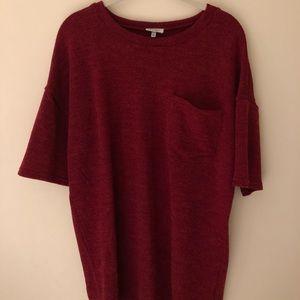 TOBI Red Sweater Fabric Mini Dress